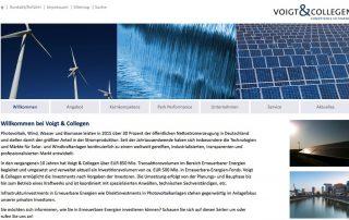 Website – Voigt & Collegen