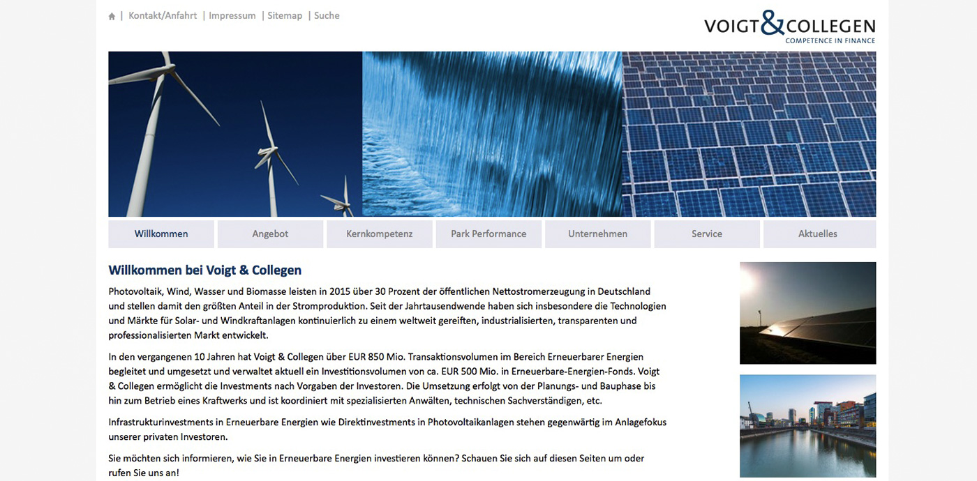 Website – Voigt & Collegen