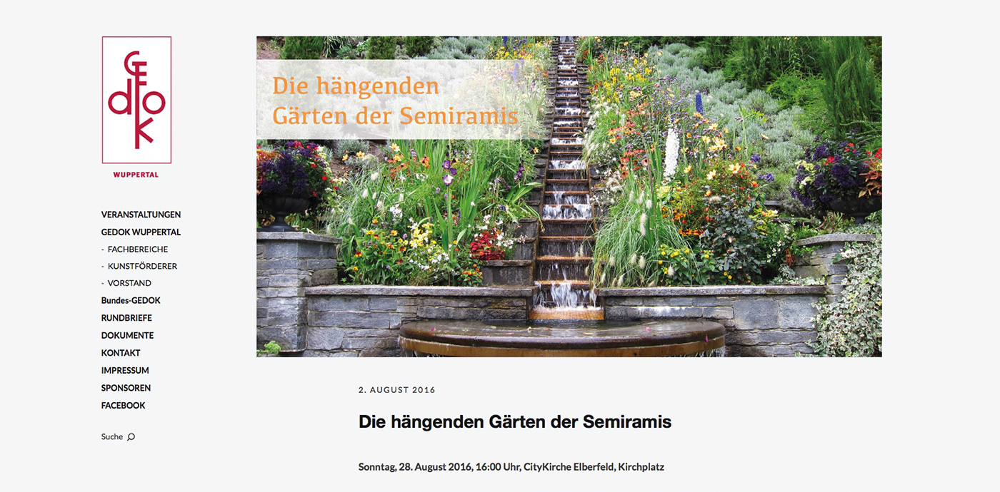 Website - GEDOK Wuppertal