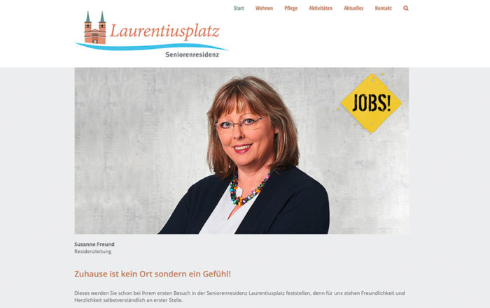 Website - Seniorenresidenz Laurentiusplatz